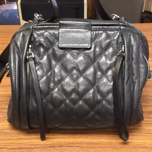 Black leather Marc byMarc Jacobs Moto bag